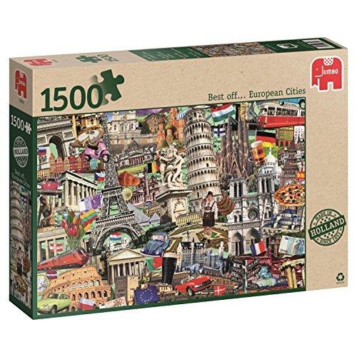 Jumbo Best of European Cities Jigsaw Puzzle 1500-Piece by Jumbo
