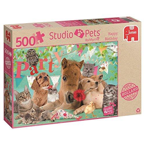 Jumbo Studio Pets Happy Birthday Jigsaw Puzzle 500-Piece by Jumbo