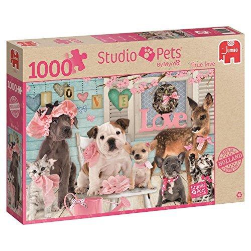 Jumbo Studio Pets True Love Jigsaw Puzzle 1000-Piece by Jumbo