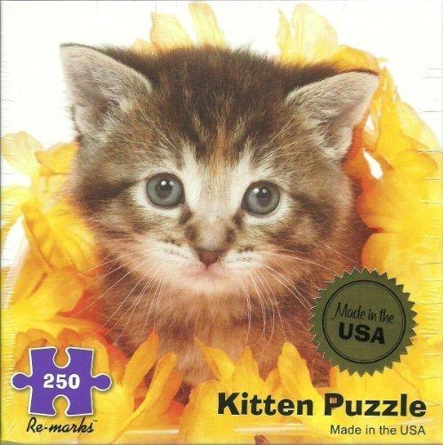 250 Piece Kitten in Flowers Jigsaw Puzzle from Re-Marks