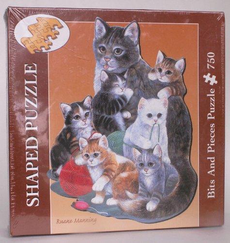 750 Pc Kitten Cuddle Puzzle Bits Pieces
