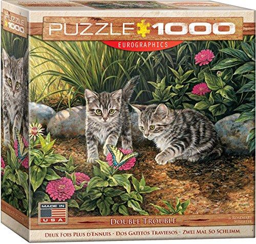 EuroGraphics Double Trouble Kitten Puzzle 1000 Piece