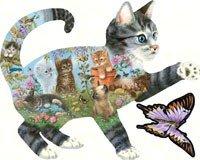 Kittens Delight by Giordano studios Appx900 piece Jigsaw puzzle 2675 X 3425