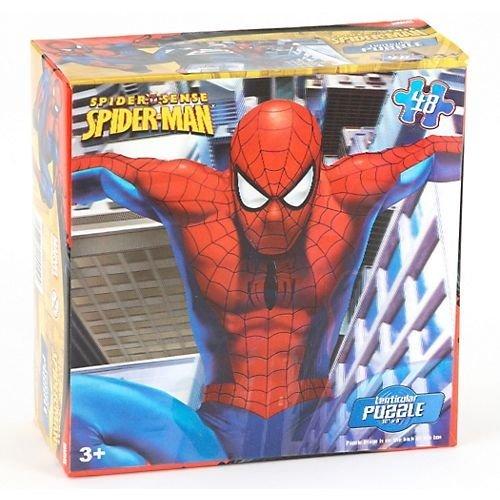 Spiderman Puzzle- assorted styles - Marvel Spiderman Lenticular Puzzle 48pcs