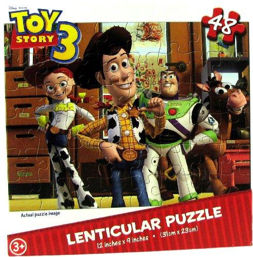 Toy Story 3 48 Piece Lenticular Puzzle - Woody Buzz Jessie Rex Bullseye