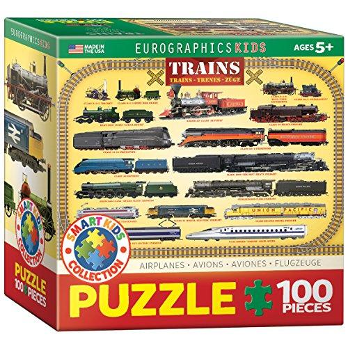 EuroGraphics Trains 100 Piece Puzzle Small Box Puzzle