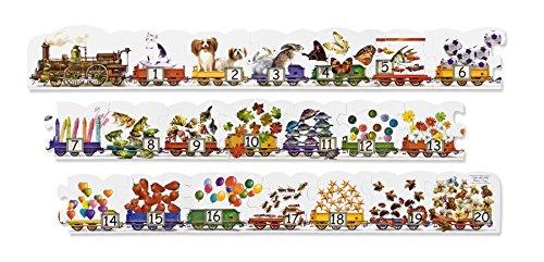 Melissa Doug Number Train Jumbo Jigsaw Floor Puzzle 21 pcs 9 feet long