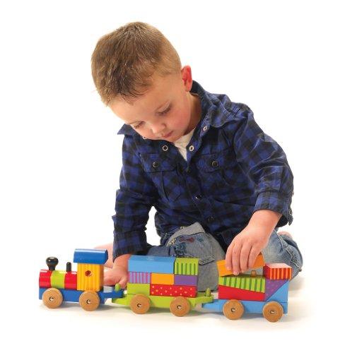 Orange Tree Childrens Wooden Toy Large Train Puzzle