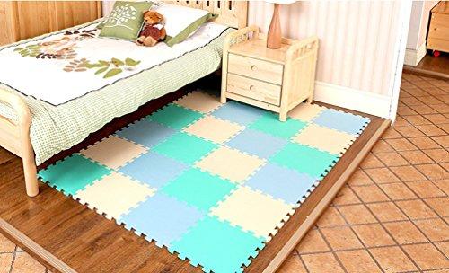 Menu Life 10-tile Beige Blues Exercise Mat Soft Foam EVA Playmat Kids Safety Play Floor Puzzle Playmat Tiles