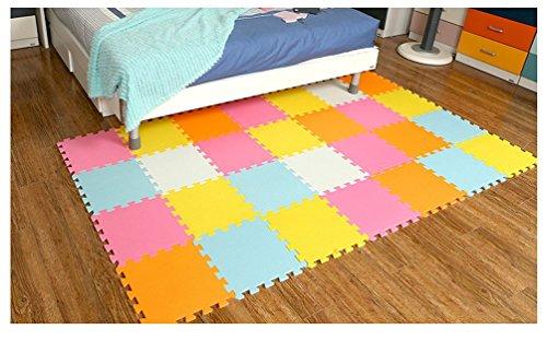 Menu Life 10-tile Colorful Summer Exercise Mat Soft Foam EVA Playmat Kids Safety Play Floor Puzzle Playmat Tiles