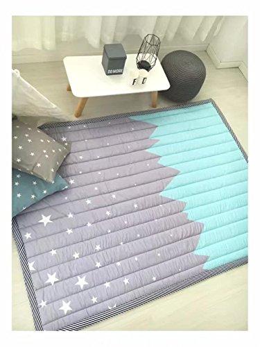 Kids Teepee Mat Children Antiskid Play Mat Baby Crawling Mat Non-slip thicken Carpet(55X76) Star