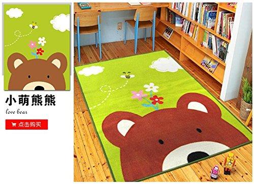 Lovely Bear Children Carpet Kids Rugs39x51 Inches Cartoon Animal Carpet Baby Crawling Mat Baby Crawling Pad Game Mat Love-bear 100cmx130cm