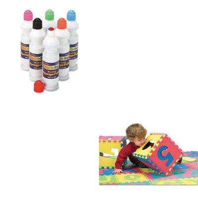 KITCKC2400CKC4390 - Value Kit - Chenille Kraft Wonderfoam Letters ampamp Number Puzzle Mat CKC4390 and Creativity Street Sponge Paint Set CKC2400