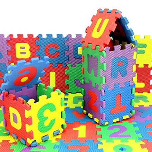 LandFox Toy36 Pcs Baby Child Number Alphabet Puzzle Maths Educational Toy Gift