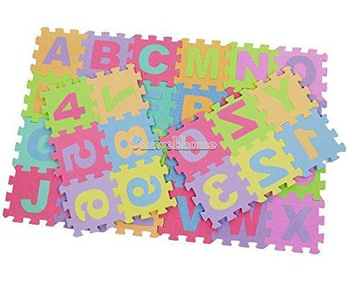 Sangdo Large 36 pcs Interlocking Foam Alphabet Numbers Puzzle Mat Floor Play