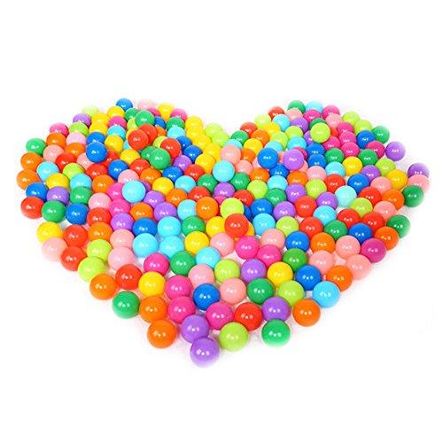 QIYOTM Colorful Pit Balls Fun Crush Proof Plastic Ocean Pool Ball Baby Kids Play Tent Swim Toys