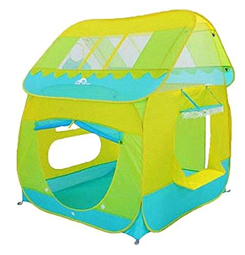 Remeehi Green Kids Toys Fun Big Play Tent Playhouse Basket Hut Play Pit Balls Pool