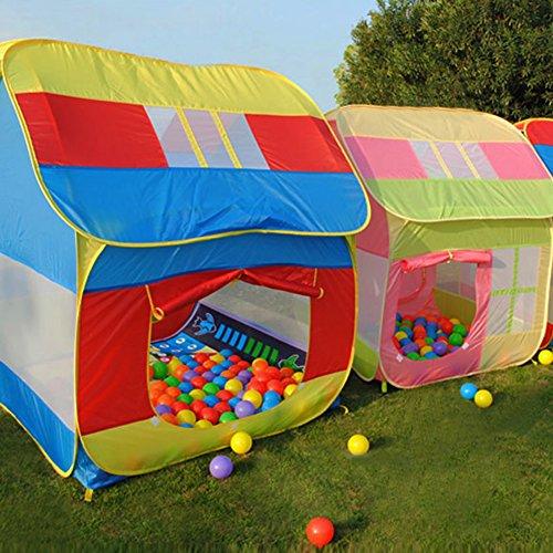 VktechKids Play Hut Outdoor Indoor Fun Play Big Tent Playhouse Pop Hut Play Pit Balls Pool