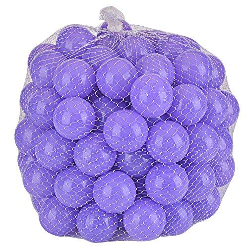 Lightaling 100pcs Ocean Balls Soft Plastic Pit Balls Purple