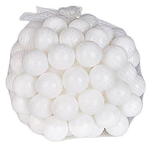 Lightaling 100pcs Ocean Balls Soft Plastic Pit Balls White