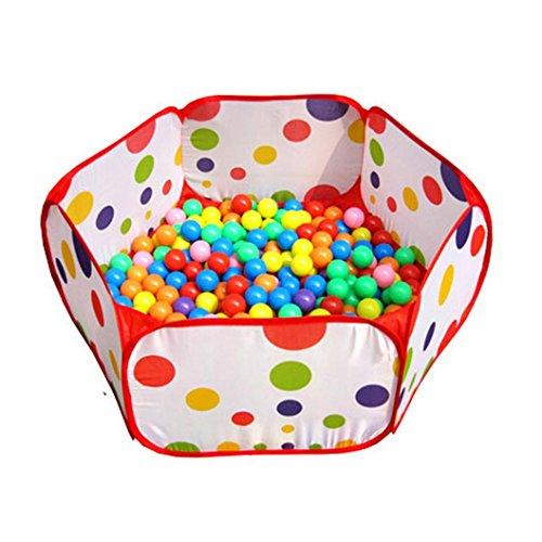 Lisingtool Pop up Hexagon Polka Dot Kids Ball Play Pool Tent Carry Tote Toy
