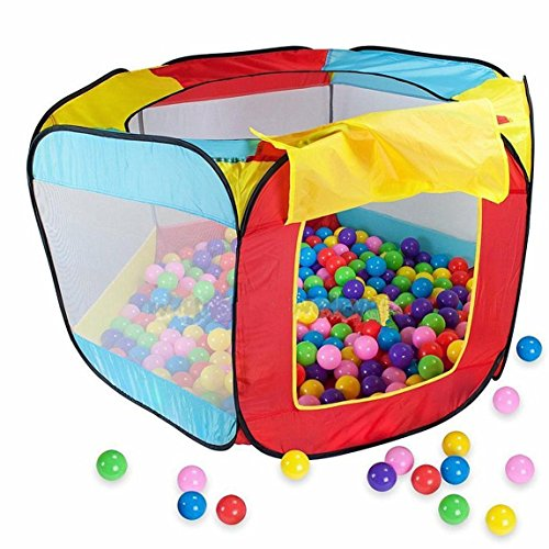 INSMA Pop-up Kids Ball tent Easy Folding Ball Hut Kid Play House Ball Pool 11x50x29 inch Ball Pit Indoor Outdoor Ball Hut Hideaway Tent Play Hut with Zippered Storage Bag Balls not included