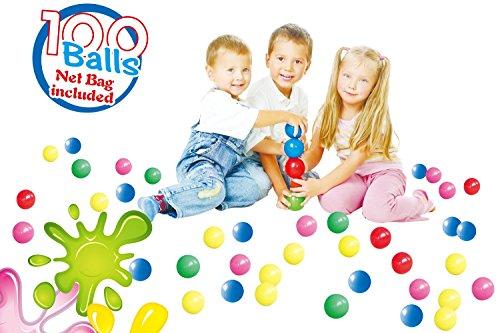 POCO DIVO 100 Pit Balls Magic Funball 5-Color Crushproof Kids Play Ocean Ball with Mesh Bag