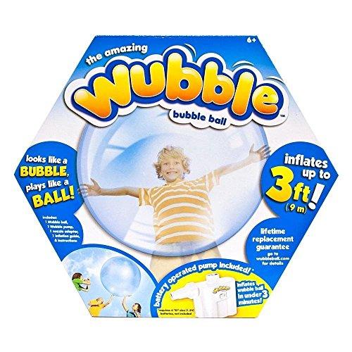 The Amazing WUBBLE Bubble Ball - Looks like a bubble plays like a ball Blue