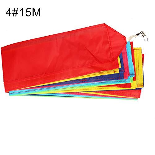 t0uvtrukCs 101530m Kite Tail Super Polyester Stunt Kite Tail Rainbow Line Kite Accessory Kids Toy 4