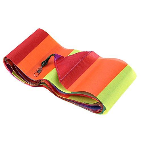 ttnight Easy Flyer Kite for Kids 10 Meters Rainbow Bar Kite Tail for Delta Kite Stunt Kite Kite Accessory