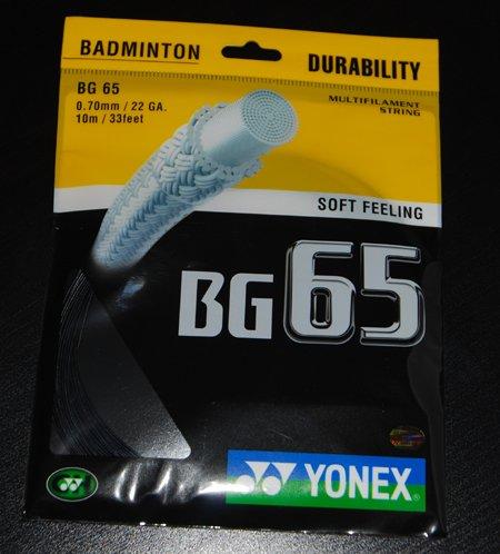 Yonex BG 65 Badminton String - Black