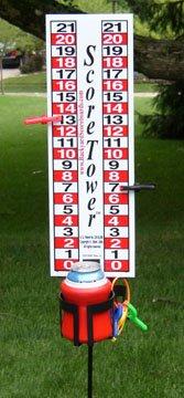 ScoreTower - Scoreboard Drinkholder for Bocce Ball