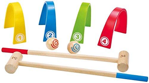 Hape - Color Croquet Wooden Outdoor Play Set