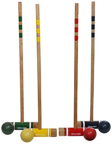 Spalding 4-Player Recreational Series Croquet Set