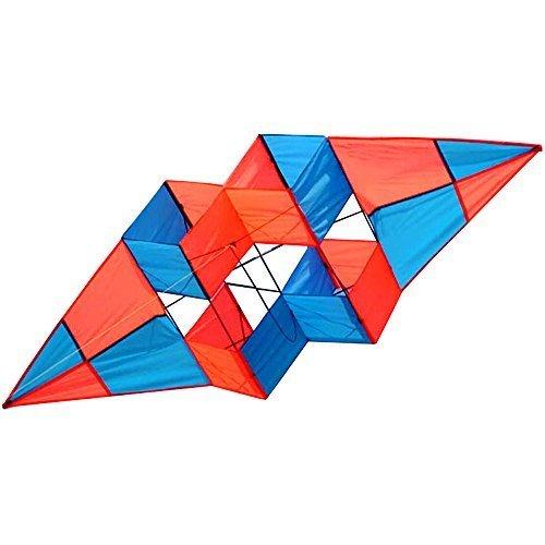Hengda Kite Power Box 3d Three-dimensional Satellite Double Rhombus Kite 27 X 75