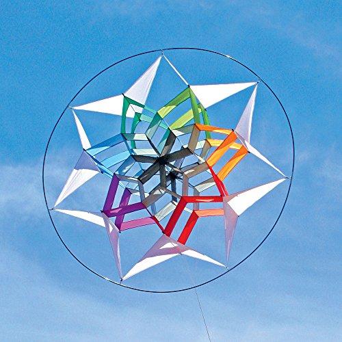 Into The Wind Star 7 Rainbow Facet Box Kite