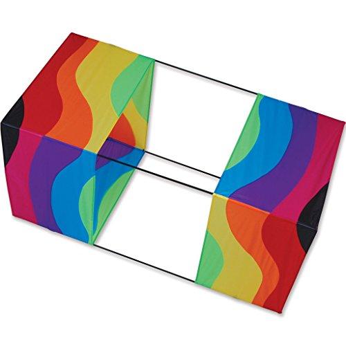 Traditional Box Kite 40in - Wavy Rainbow