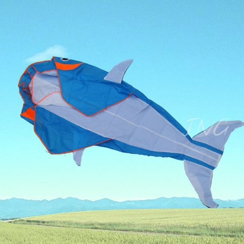 Lets Go Fly a Kite 3D Big Whale Frameless Parafoil Kite Outdoor Beach Park Garden Fun by LW
