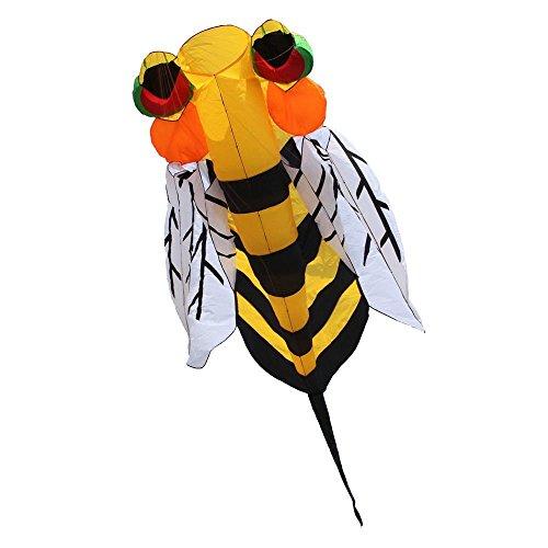 Hengda Kite NEW 4m Single Line Stunt Hornet Bee Power Sport Kite