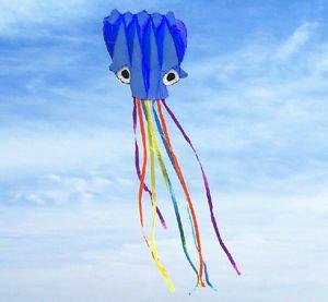 Sangdo 3D 55m 1 Line Stunt blue Octopus POWER Sport Kite outdoor toy