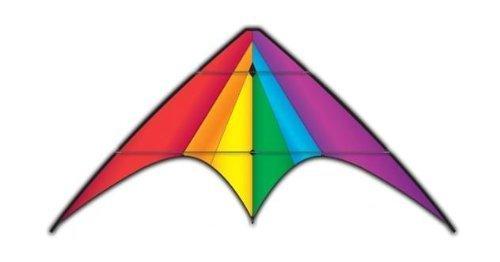 X-Kites DC Sport Kite 75 - Dual Control Nylon Kite Rainbow