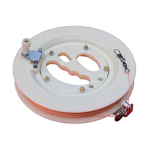Hengda Kite Professional Color Kite Ballbearing Reel Line Winder Grip Wheel  200M Tire Line With Lock-White