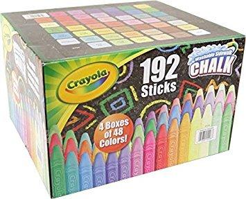Crayola Washable Sidewalk Chalk Set Anti-roll design Outdoor fun 192 Chalks