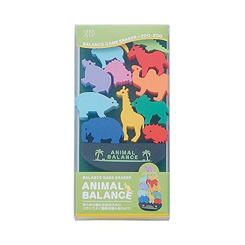 Seed Animal Balance Game Eraser Set - Zoo
