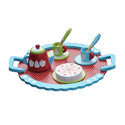 Kylin Express Kids Wooden Toy Food Pretend Play Food Mini Afternoon Tea Set