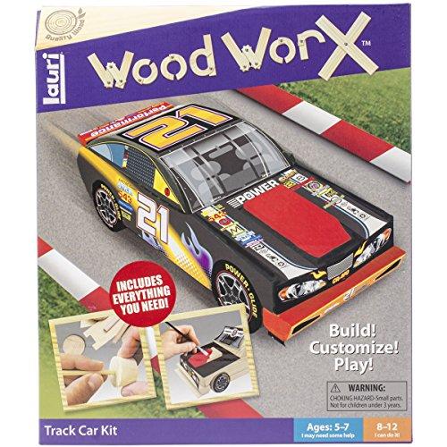 Lauri Toys Wood WorX Track Car Kit