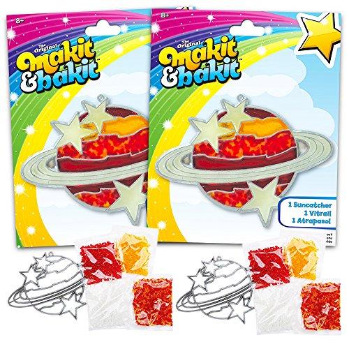 Bakit Suncatcher Kit For Kids -- 2 Sets Saturn Design
