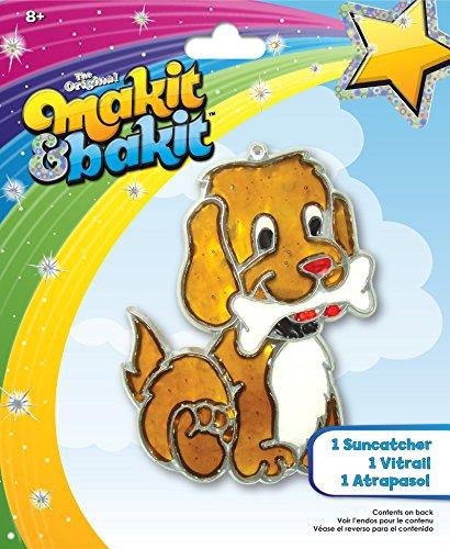 Colorbok Makit Bakit Suncatcher Kit Stained Glass Puppy Bone
