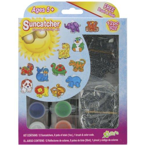 New Image Group 366678 Suncatcher Group Activity Kit-Zoo 12-Pkg