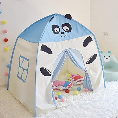 Wind-Susu Children Game Tent Kids Fort Canvas Canopy Tent Indoor Outdoor Portable Playhouse